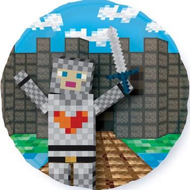 """Medieval Pixels 18"""" Balloon (1)"""
