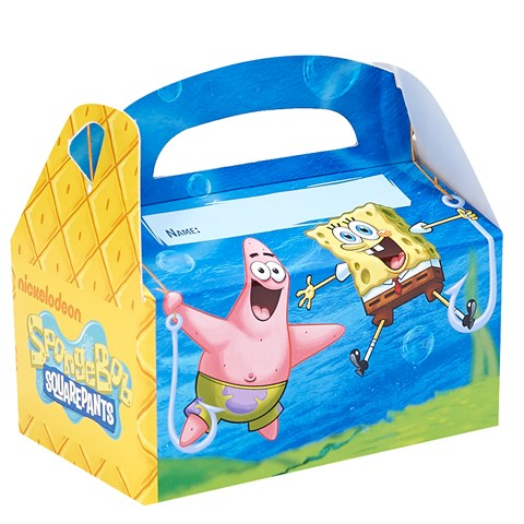 SpongeBob Personalized Write-In Empty Favor Boxes