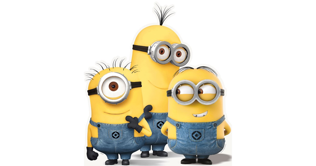 minions despicable me group standup 3 tall