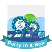 1st Birthday Boy Sweet Stripes Party in a Box For 8