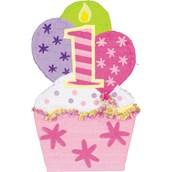 1st Birthday Cupcake Pink Giant Pinata