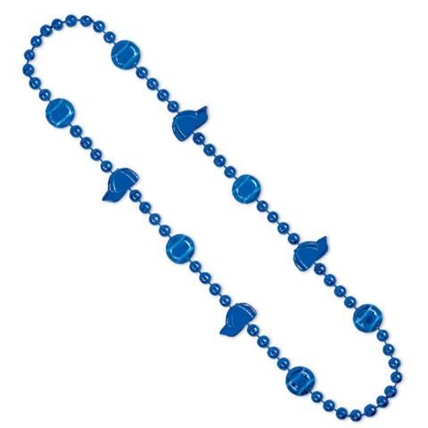 "Baseball Beads 36"" Blue"