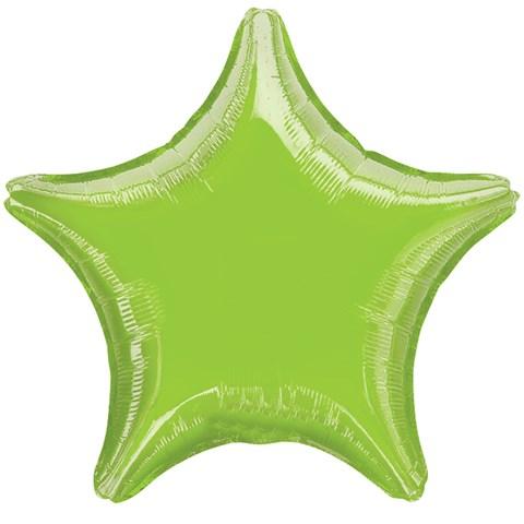 Lime Green Star Foil Balloon