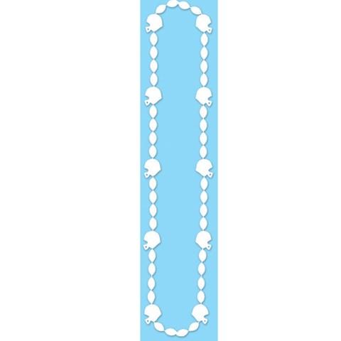 "Football Beads 36"" White"