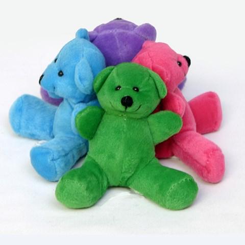 Neon Color Plush Bear