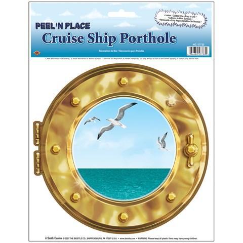 Peel 'N Place Cruise Ship Porthole