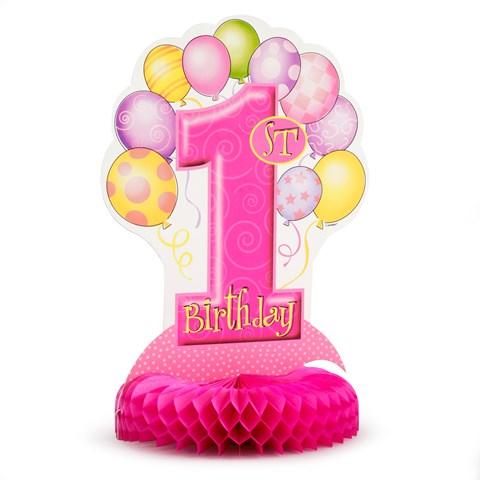 My 1st Birthday Pink Centerpiece