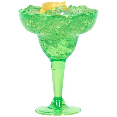 Green Plastic 8 oz. Margarita Glasses