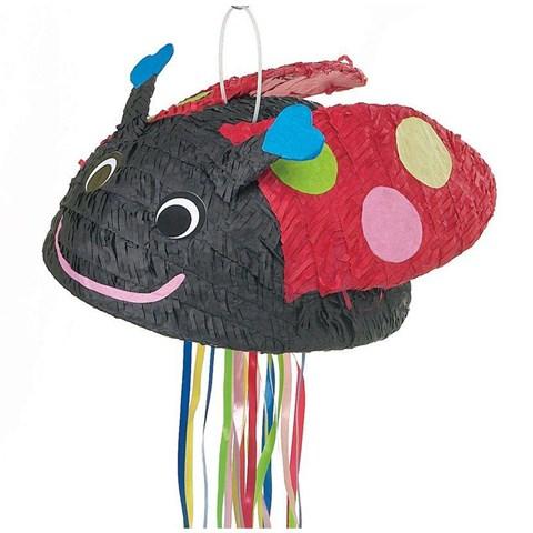 Ladybug Pull String Pinata