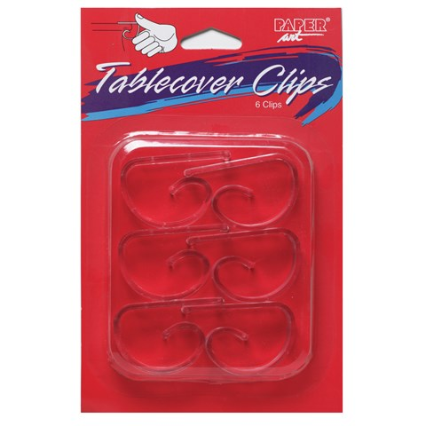 Clear Plastic Tablecover Clips