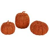 3pc Orange Pumpkin Decor Set