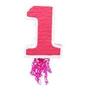 """Pink #1 19"""" Pull-String Pinata"""