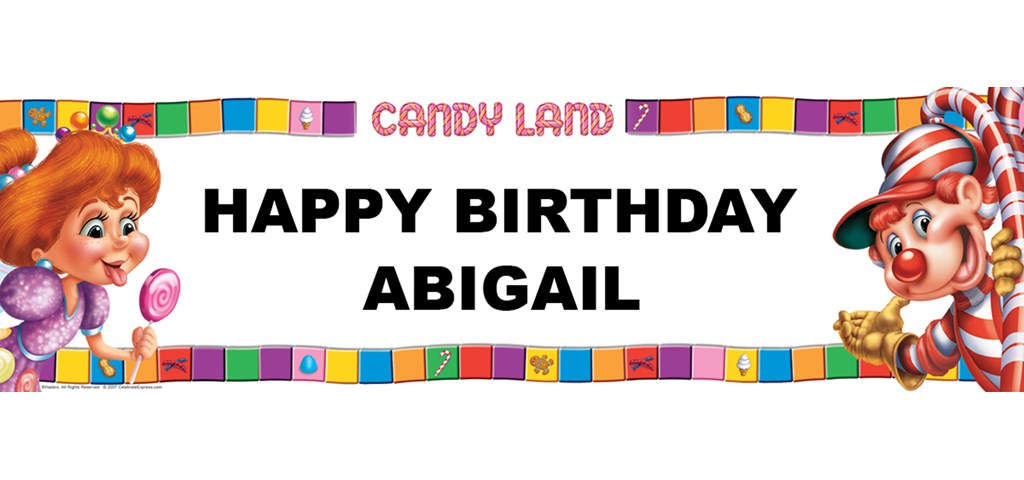 Candy Land Personalized Birthday Banner