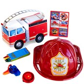 Fire Trucks Filled Party Favor Box