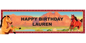 Horse Power Personalized Birthday Banner