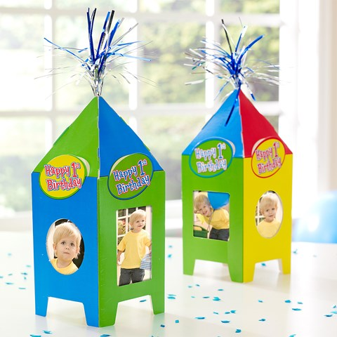 Primary 1st Birthday Photo Table Tents