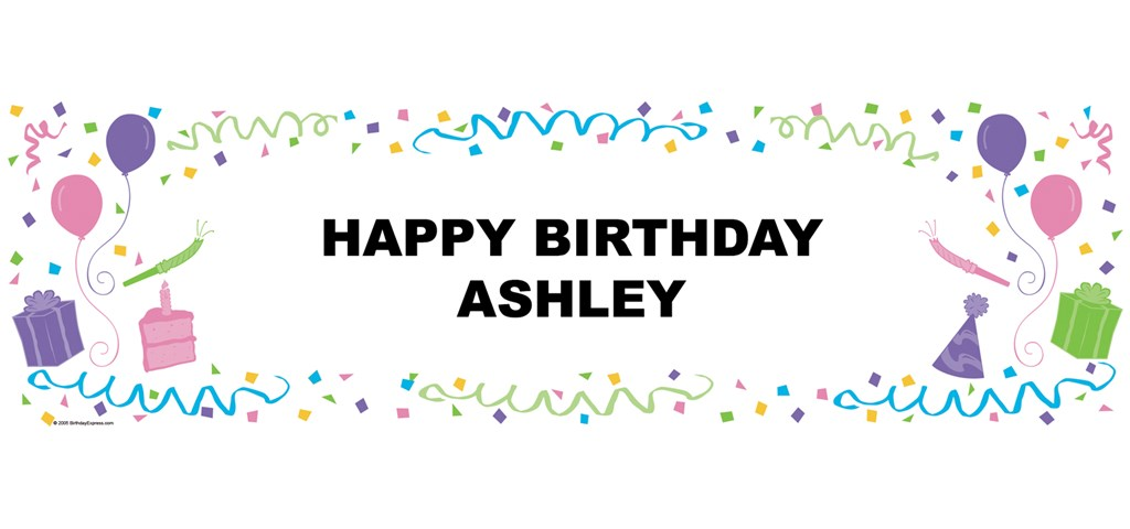 Pastel Personalized Birthday Banner