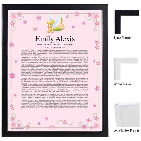 Disney Tinker Bell Keepsake Scroll