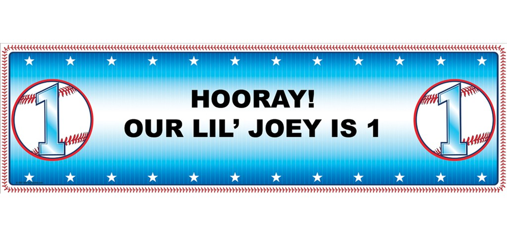 Lil' Slugger 1st Personalized Birthday Banner