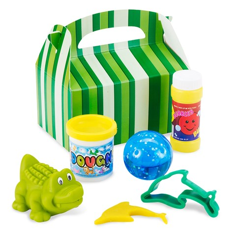 Green Stripe Party Favor Box
