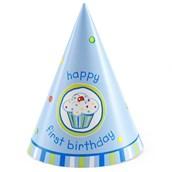 Boy's Lil' Cupcake 1st Birthday Cone Hats