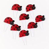 Ladybugs Food Picks