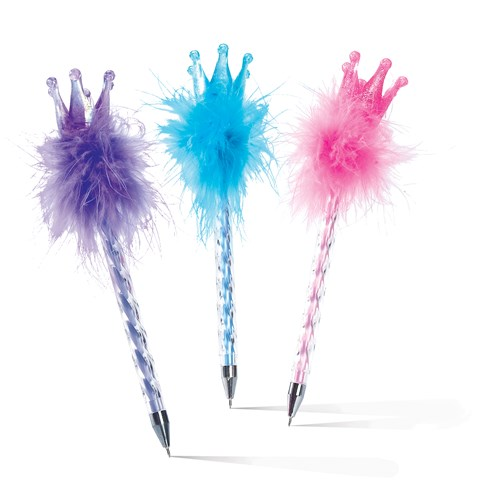 Crown Feather Pens (12 Assorted)