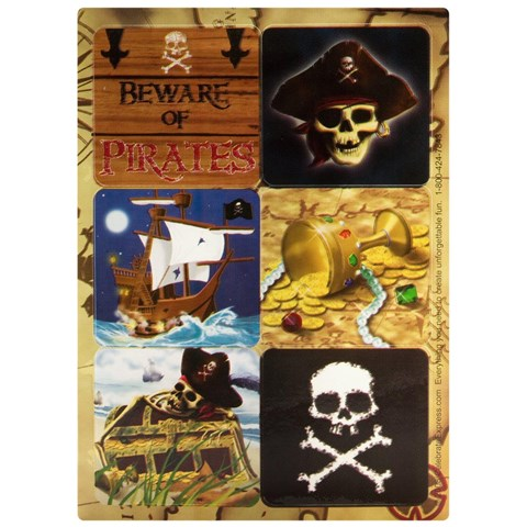 Pirates Sticker Sheets