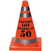50th Birthday Plastic Cone Decoration (1)