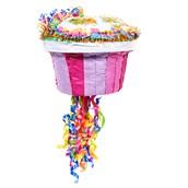 "Pink Cupcake 13"" Pull-String Pinata"
