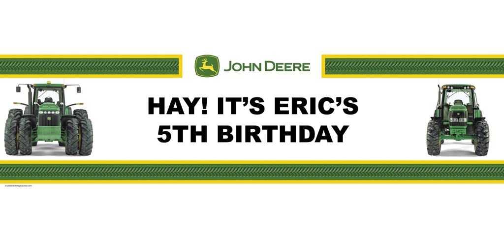 John Deere Personalized Birthday Banner