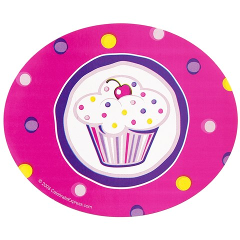 Girl's Lil' Cupcake Birthday Stickers