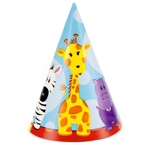 Safari Friends 1st Birthday Cone Hats