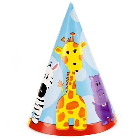 Safari Friends 1st Birthday Cone Hats