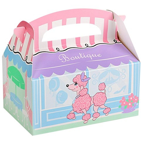 Pink Poodle in Paris Empty Favor Boxes