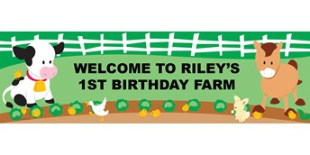 Barnyard Personalized Birthday Banner