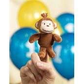 Monkey Plush Finger Puppet