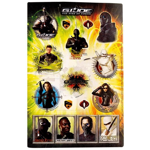 GI JOE Rise of the Cobra Sticker Sheets