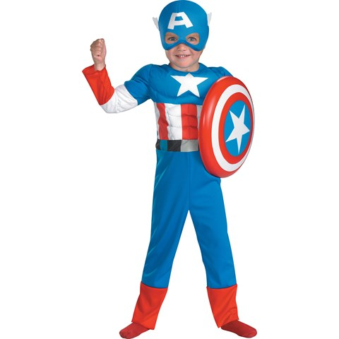 Captain America Muscle Toddler Costume