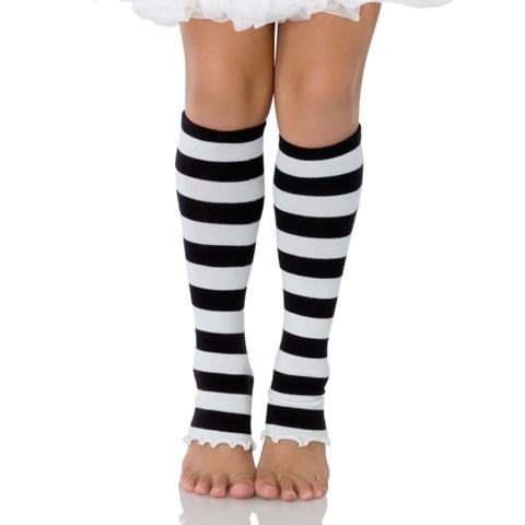 Leg Warmers (Black/White) Child