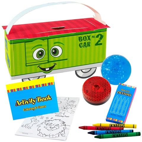 Two-Two Train 2nd Birthday Party Favor Box