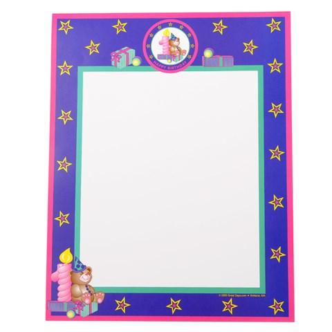 Teddy Bear 1st Birthday Scroll (Pink)