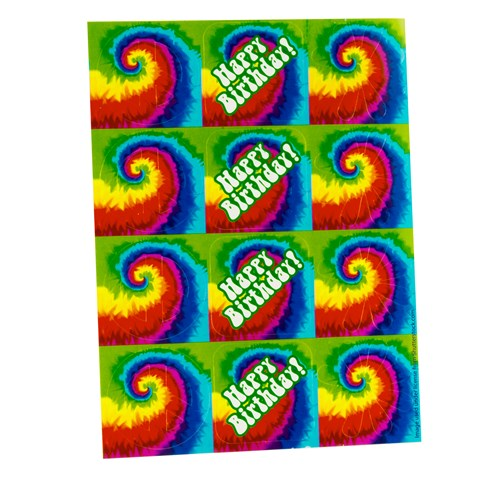 Tie Dye Fun Sticker Sheets
