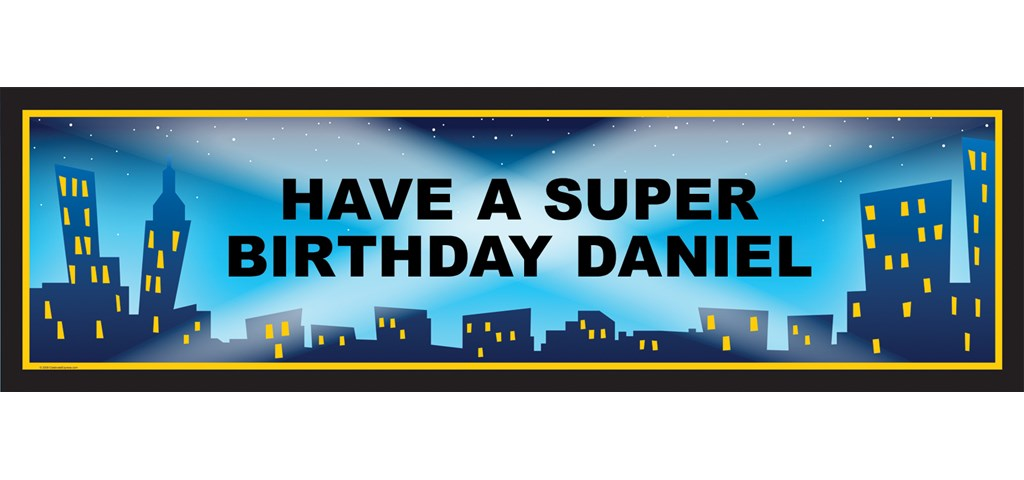 City Lights Personalized Birthday Banner