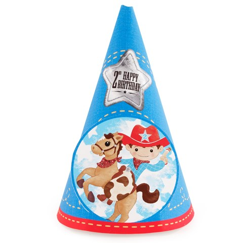 Cowboy 2nd Birthday Cone Hats