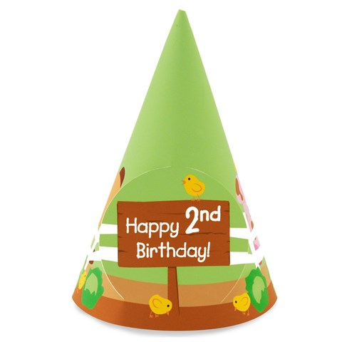 Barnyard 2nd Birthday Cone Hats