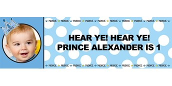 Lil' Prince Personalized Photo Vinyl Banner