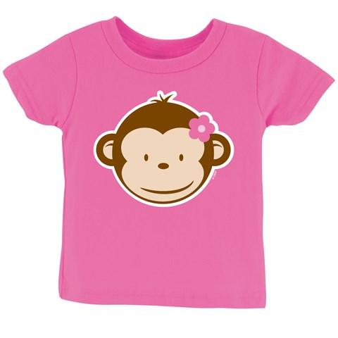 Pink Mod Monkey T-Shirt