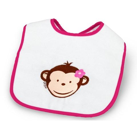Pink Mod Monkey Bib