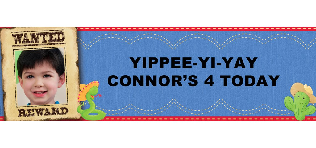 Cowboy Personalized Photo Banner